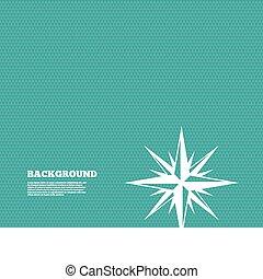 windrose, シンボル。, 印, コンパス, icon., ナビゲーション