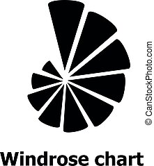 Windrose chart icon, simple style. - Windrose chart icon....