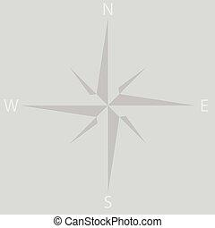 windrose, estrella, icono, compás