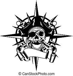 windrose, pirat