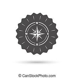 windrose, symbole., signe, compas, icon., navigation