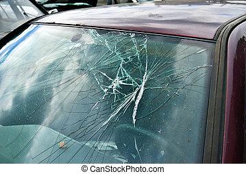 windscherm, kapot