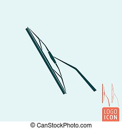 Windscreen wiper icon isolated - Windscreen wiper icon....