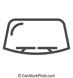 Windshield line icon. Car window vector illustration isolated on white. Windscreen outline style design, designed for web and app. Eps 10.