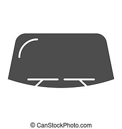 Windshield solid icon. Car window vector illustration isolated on white. Windscreen glyph style design, designed for web and app. Eps 10.