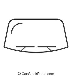 Windshield thin line icon. Car window vector illustration isolated on white. Windscreen outline style design, designed for web and app. Eps 10.