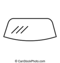 Windshield thin line icon. Windscreen vector illustration isolated on white. Car window outline style design, designed for web and app. Eps 10.