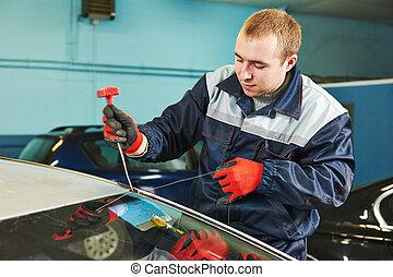 windshield windscreen replacement - Automobile glazier...