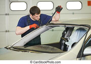 windshield windscreen replacement works - Automobile glazier...