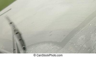 Windshield Wiper In The Rain, Side View