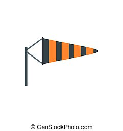 Windsock icon in flat style