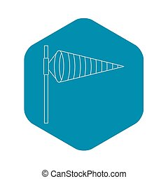 Windsock, icon, outline style