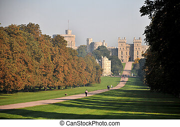Windsor Castle and the Long Walk in Autumn