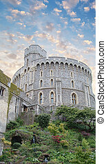 Windsor Castle, favorite residence of Queen Elizabeth II -...
