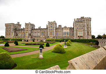 Windsor Castle in the Berkshire in Southern England -...