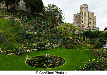 Windsor Castle, residence of the Royal family in England.