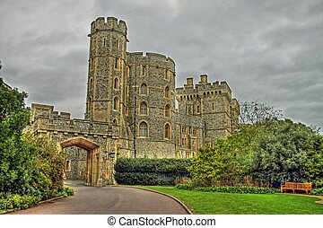 Windsor castle - Queen Elizabeth garden at Windsor Castle
