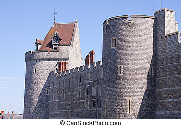 Windsor Castle - A view of part of the walls of Windsor...