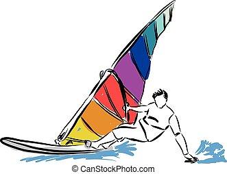 windsurf, ilustração