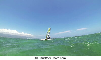 Windsurf - Maui, Hawaii, USA – June 15 2014: Professional...