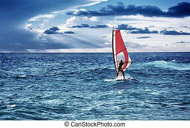 windsurfer , θάλασσα