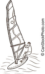 Windsurfer drawing