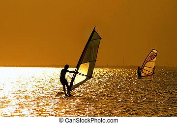 windsurfers, dois