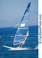 windsurfing, bewegung