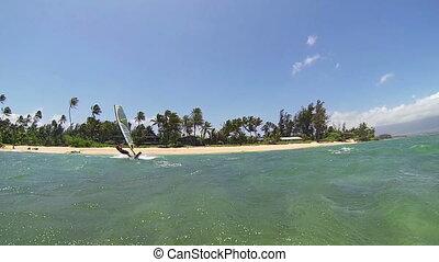 Windsurfing - Maui, Hawaii, USA – June 15 2014: Professional...