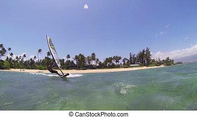 Windsurfing - Maui, Hawaii, USA %u2013 June 15 2014:...