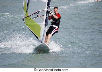 windsurfing, movimento