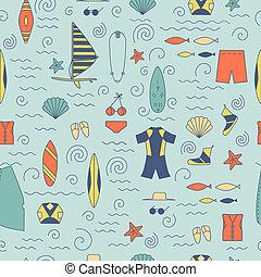 windsurfing, seamless, pattern.