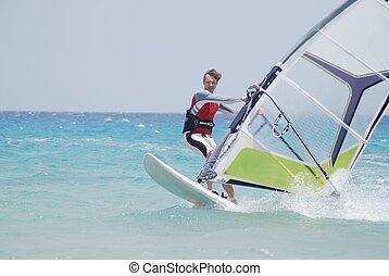 windsurfing, spostare