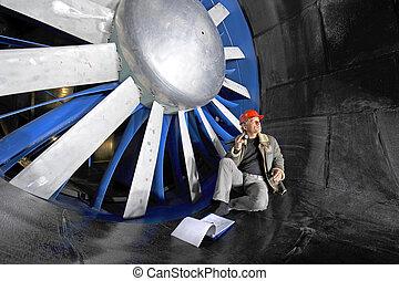 windtunnel, ingénieur