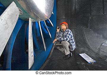 windtunnel, inspeccionando