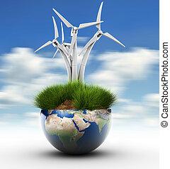 Windturbine and Earth