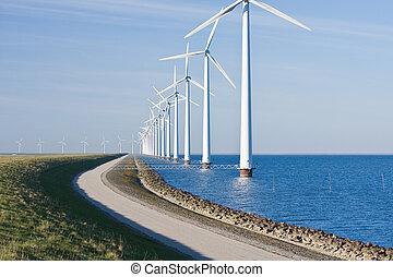 windturbines, zee, hollandse