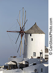 Windwill in Oia, Santorini