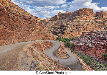 windy road in Canyonlands