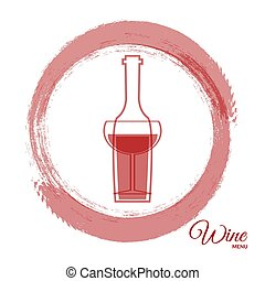 Wine abstract red paint card design eps 10 vector