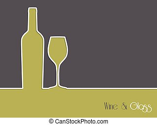 Wine advertisement background design with bottle and glass