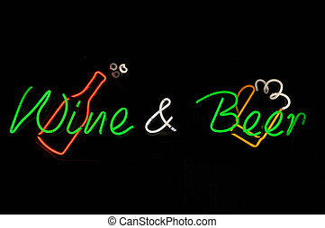 Wine and Beer Neon Sign
