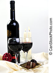 wine and chocolate - luxury and sweet praline and chocolate ...