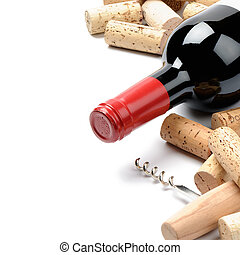 Wine and corks. Menu option