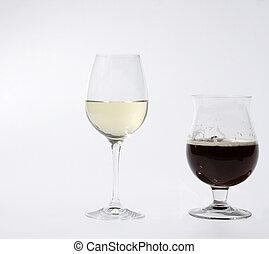 wine and dark beer