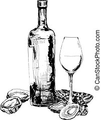 Wine and oysters