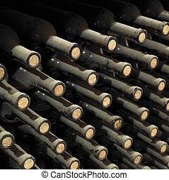 wine archive in wine cellar