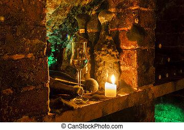 wine archive of wine cellar in Velka Trna, Tokaj wine region, Slovakia