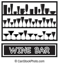 Wine bar black and white