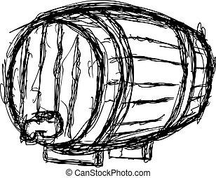 wine barrel - sketchy wine barrel